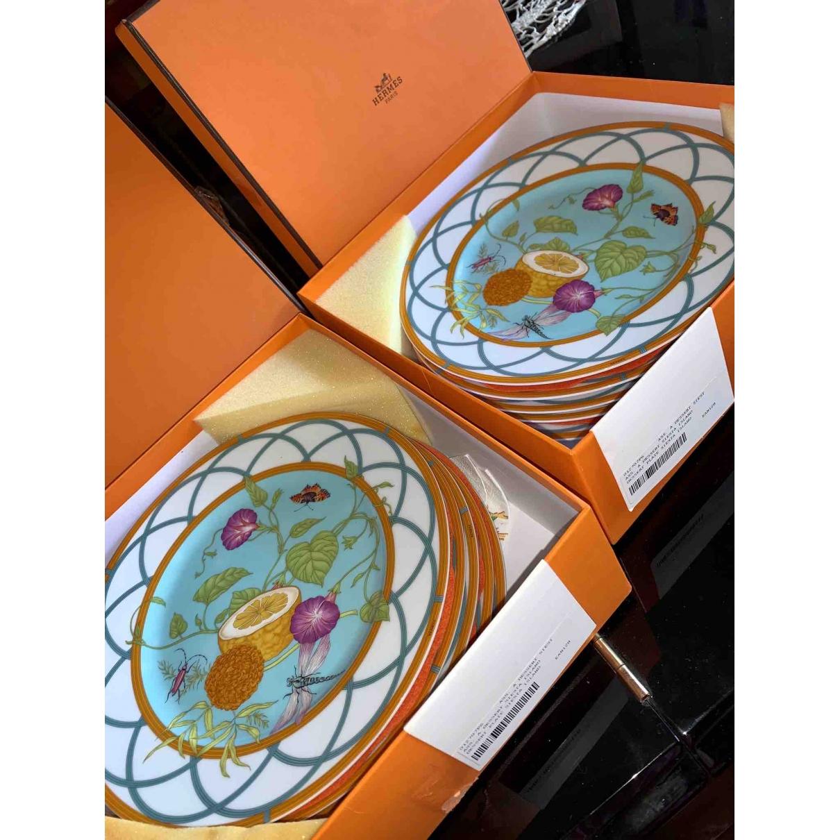 Hermes \N Tischkultur in  Tuerkis Porzellan