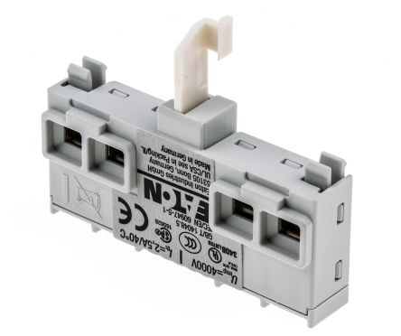 Eaton Auxiliary Contact - NO/NC, 2 Contact, Front Mount, 1 A ac, 2 A dc