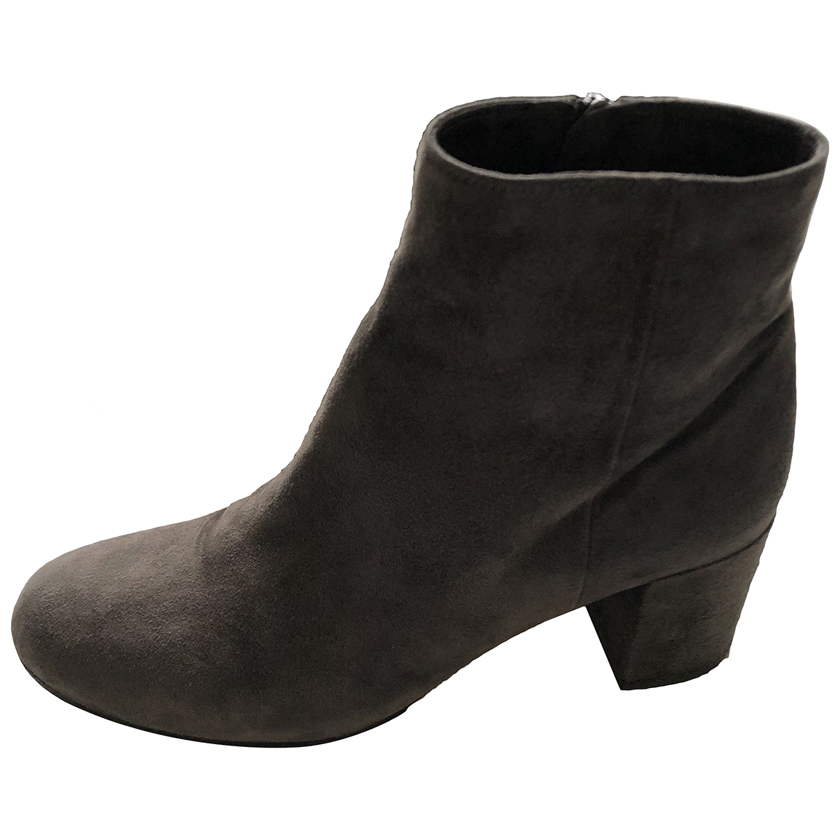 Vince \N Grey Suede Ankle boots for Women 37.5 EU