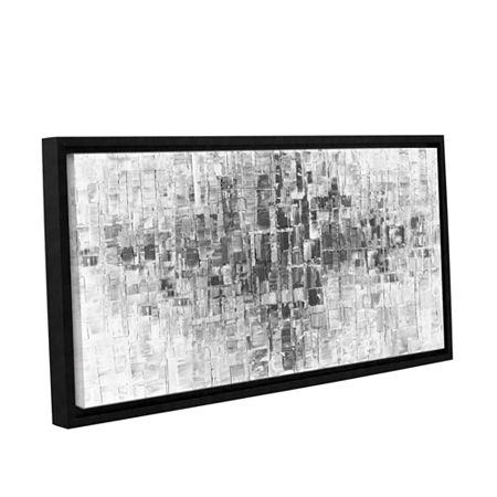 Brushstone Black and White Gallery Wrapped Floater-Framed Canvas Wall Art, One Size , Gray