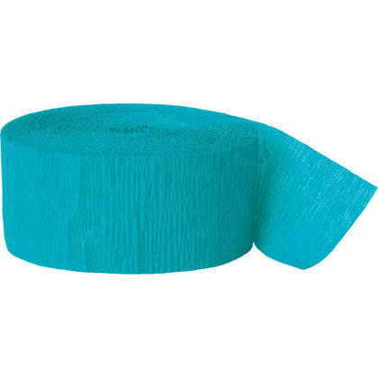 Party Streamer Party Decorations Crepe Paper 81 ft - Teal