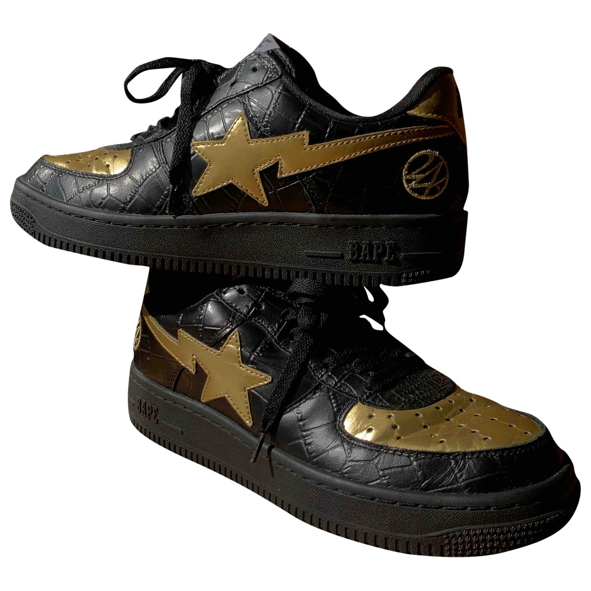 A Bathing Ape \N Sneakers in  Gold Leder