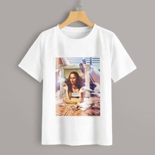 Oil Painting Figure Graphic Tee