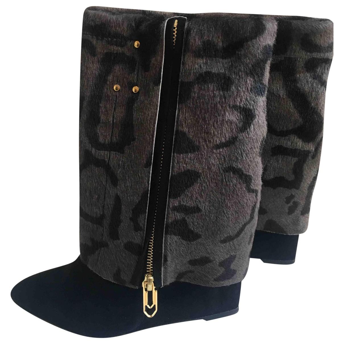 Jerome Dreyfuss \N Black Pony-style calfskin Boots for Women 37.5 EU