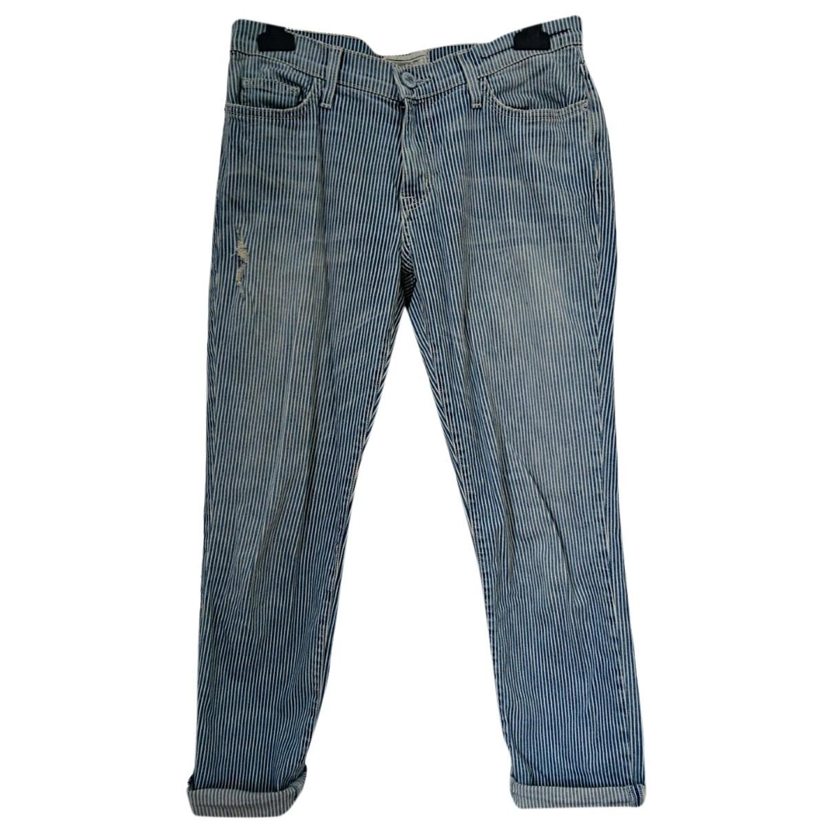 Current Elliott \N Blue Cotton Jeans for Women 26 US