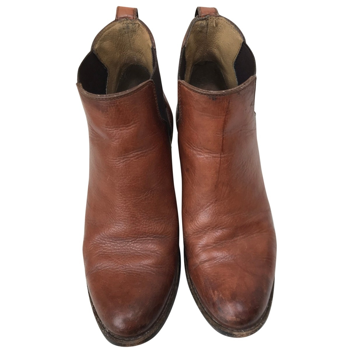 Frye \N Brown Leather Ankle boots for Women 7 US