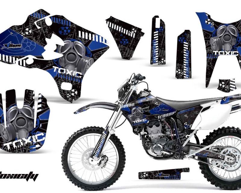 AMR Racing Dirt Bike Graphics Kit Decal Wrap For Yamaha WR250F WR450F 2003-2004áTOXIC BLUE BLACK