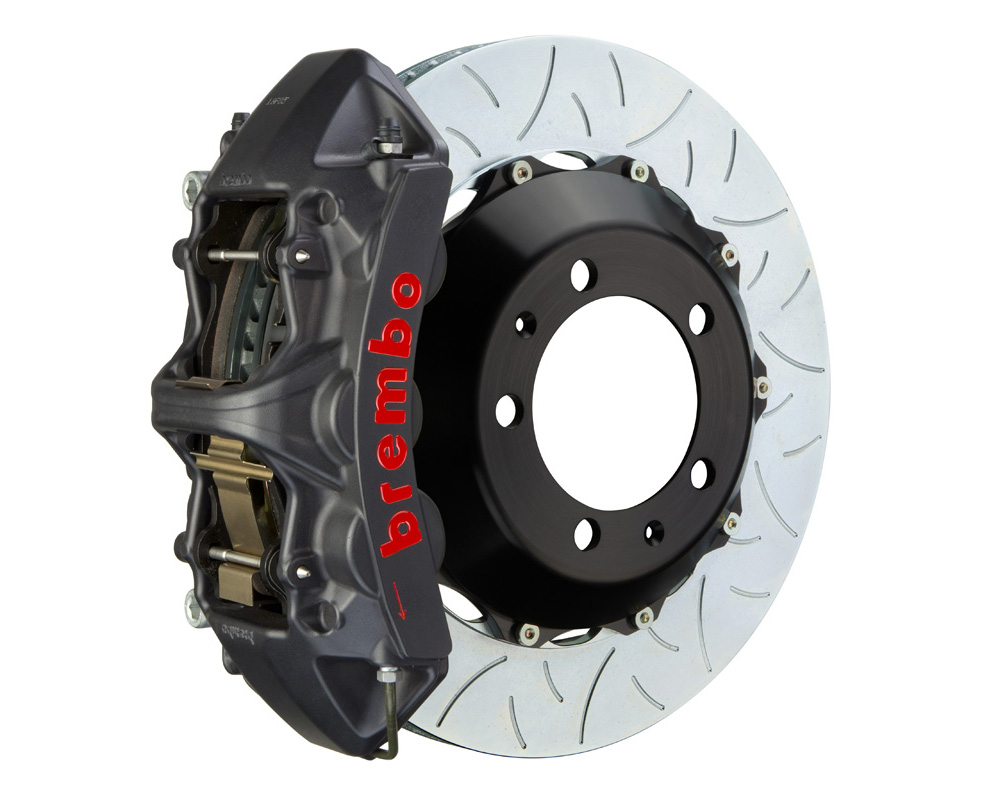 Brembo GT-S 355x32 2-Piece 6 Piston Hard Anodized Slotted Type-3 Front Big Brake Kit