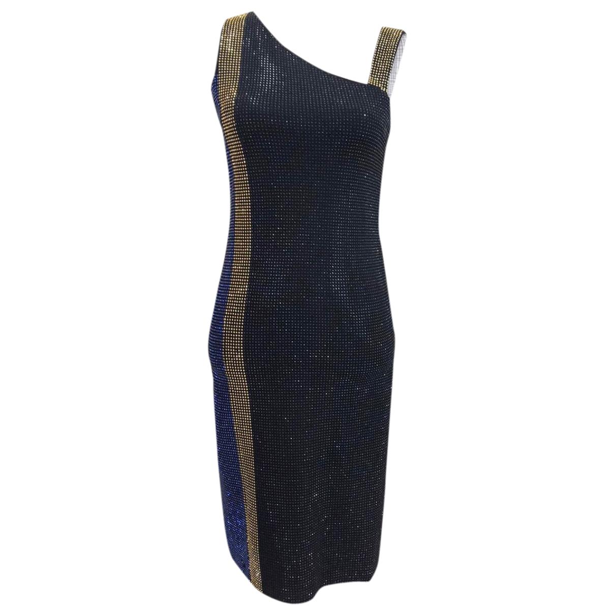 Versace \N Kleid in  Schwarz Mit Pailletten