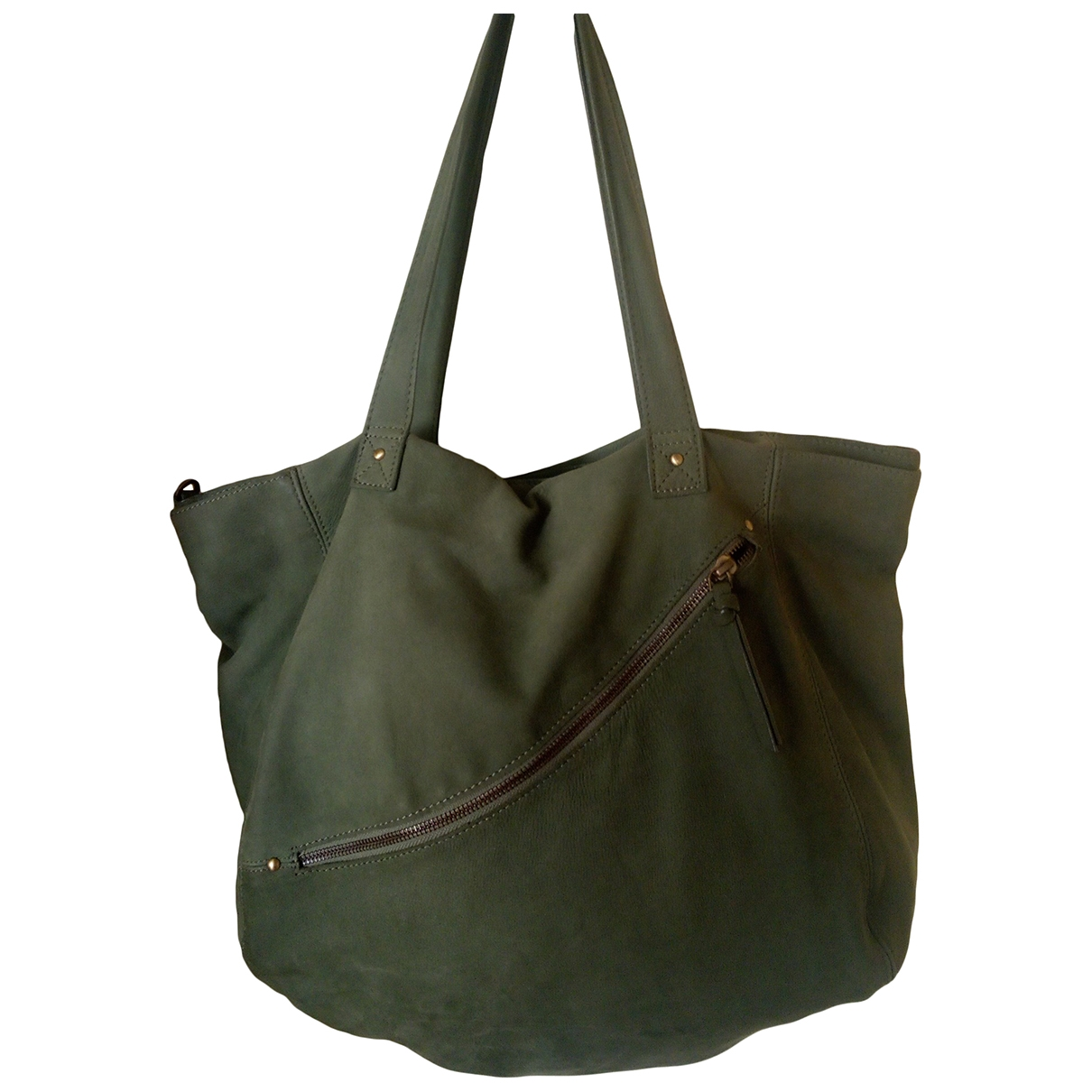 American Vintage \N Handtasche in  Gruen Leder