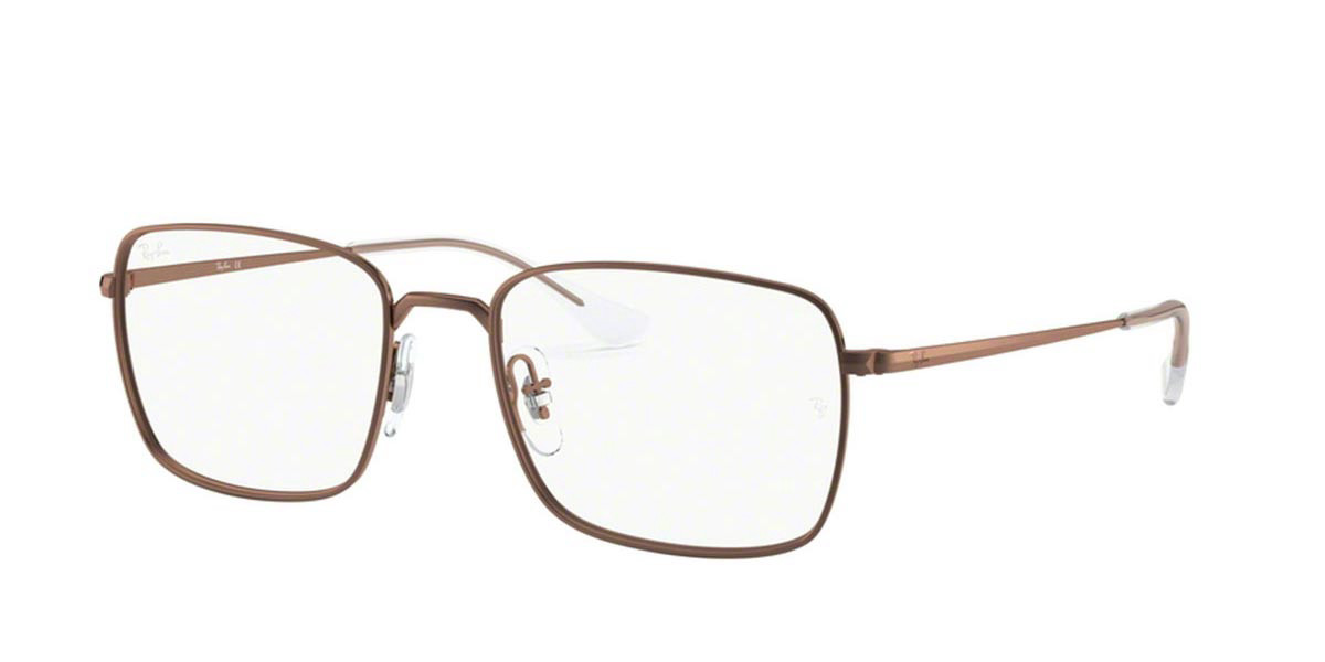 Ray-Ban RX6437 3038 Men's Glasses Brown Size 53 - HSA/FSA Insurance - Blue Light Block Available