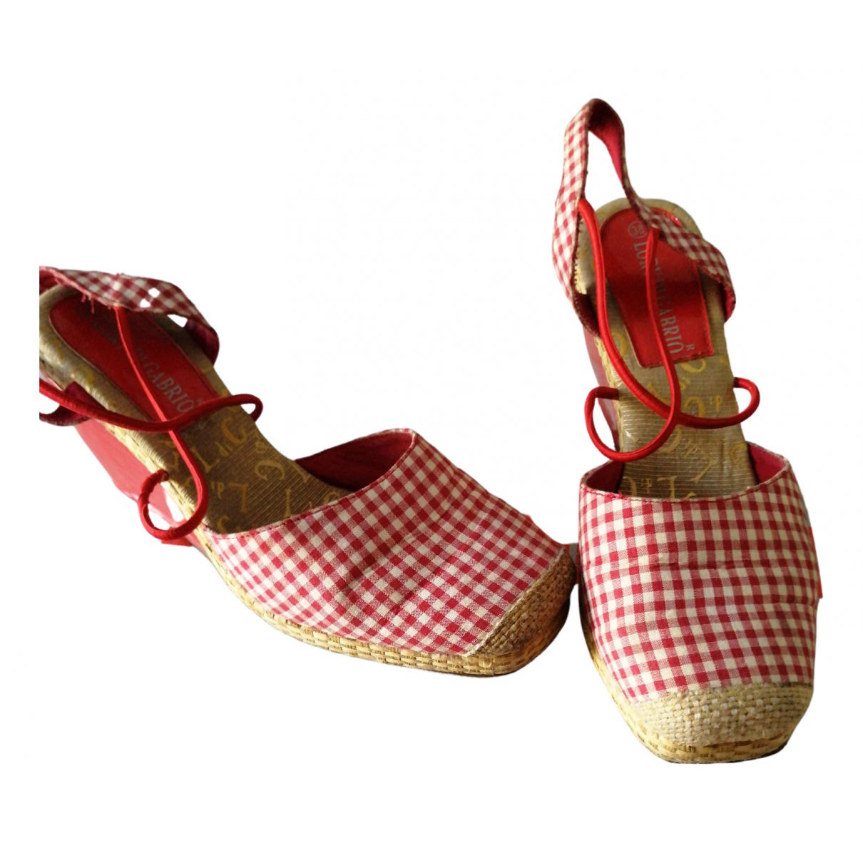 Non Signe / Unsigned \N Espadrilles in  Rot Leinen