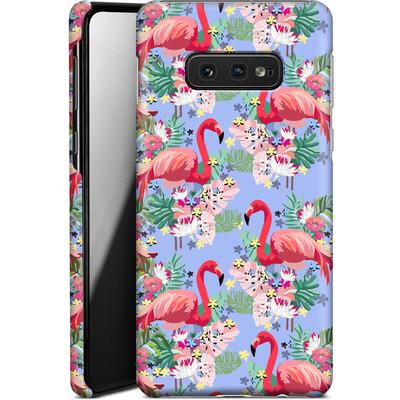 Samsung Galaxy S10e Smartphone Huelle - Flamingo Tropical von Mukta Lata Barua