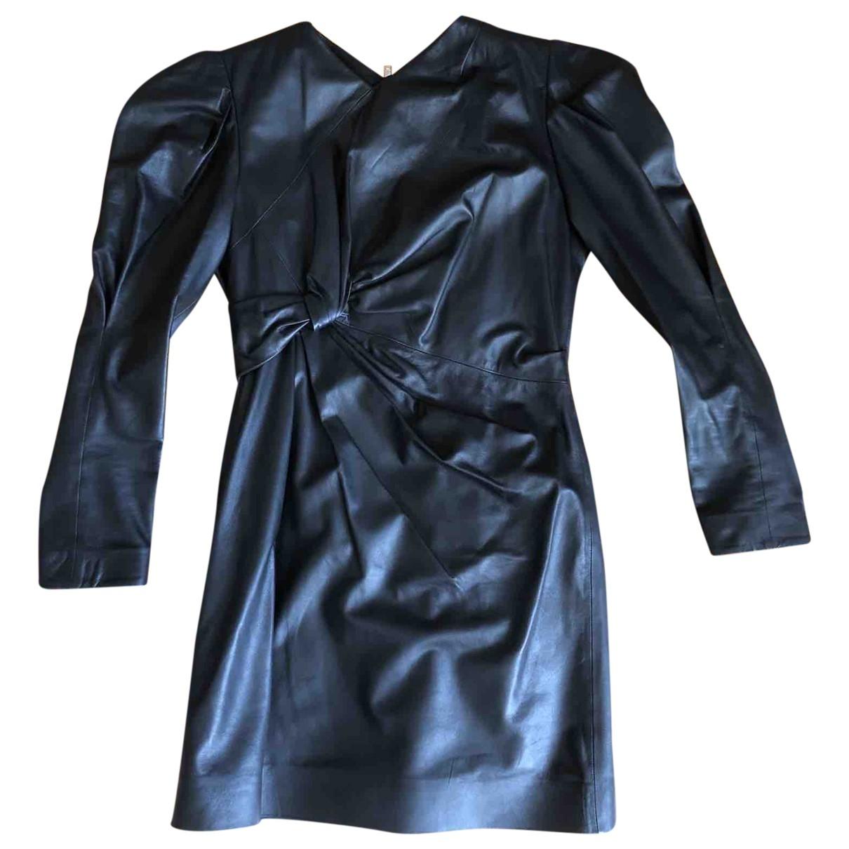 Isabel Marant \N Kleid in  Schwarz Leder
