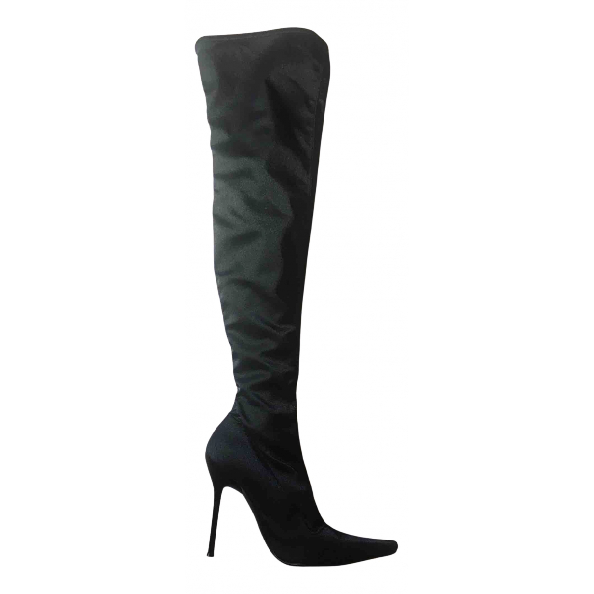 Non Signe / Unsigned \N Stiefel in  Schwarz Polyester