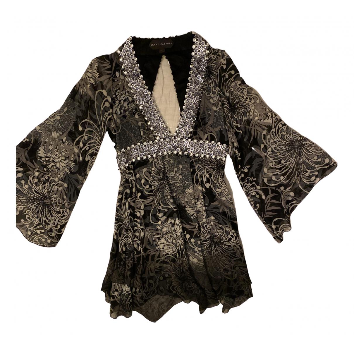 Jenny Packham \N Grey Silk dress for Women 8 UK