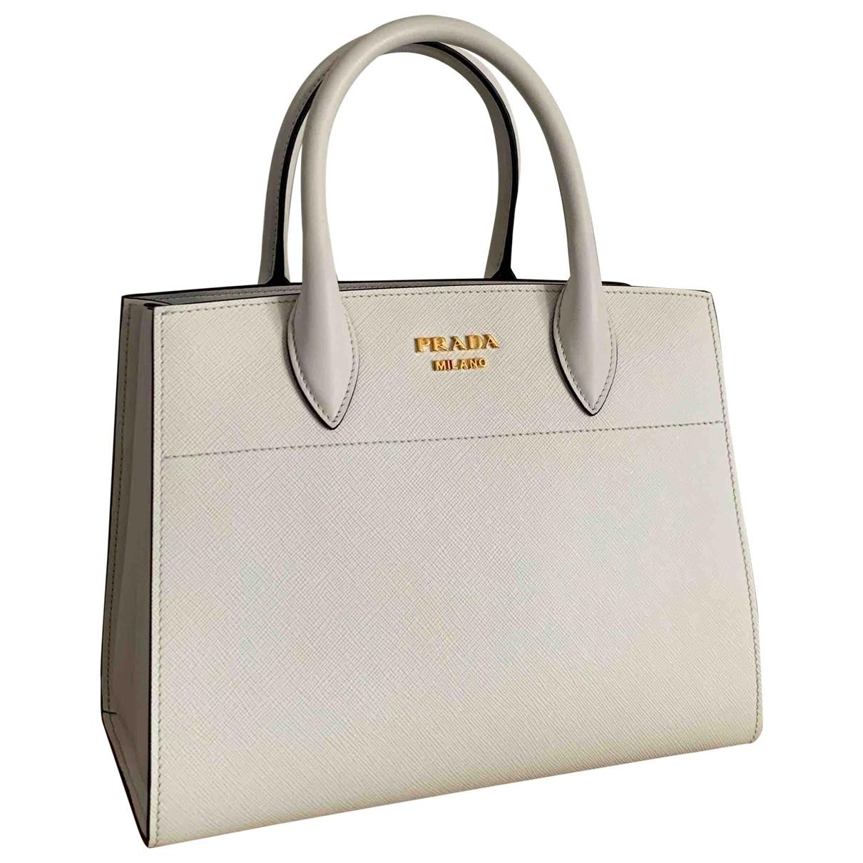 Prada saffiano  White Leather handbag for Women \N