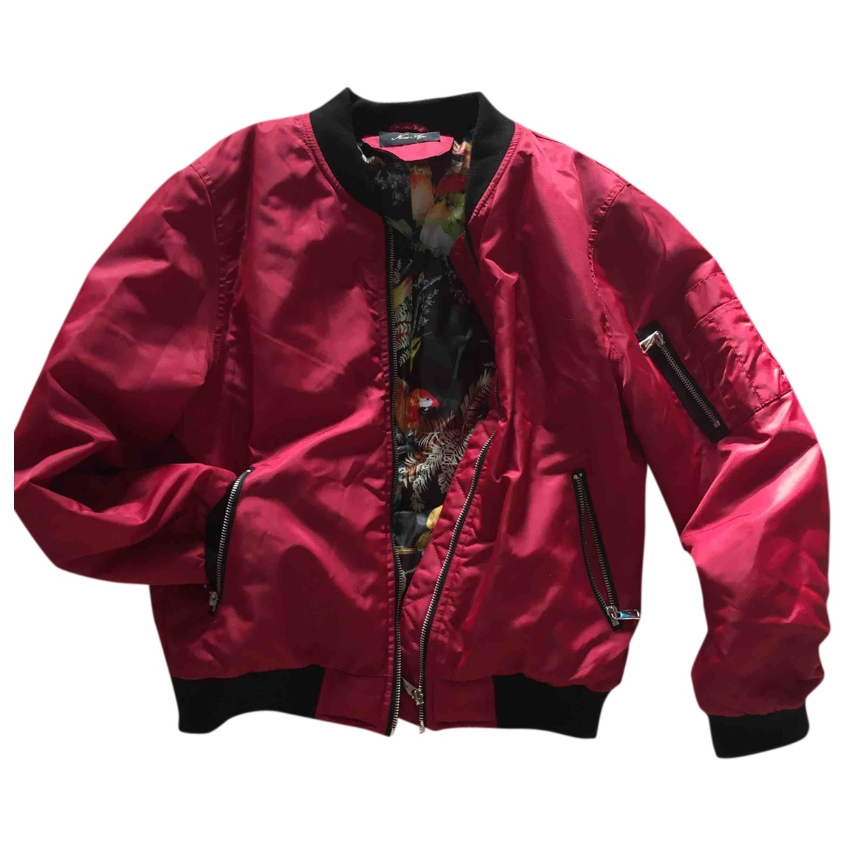 Non Signe / Unsigned \N Jacke in  Bordeauxrot Polyester