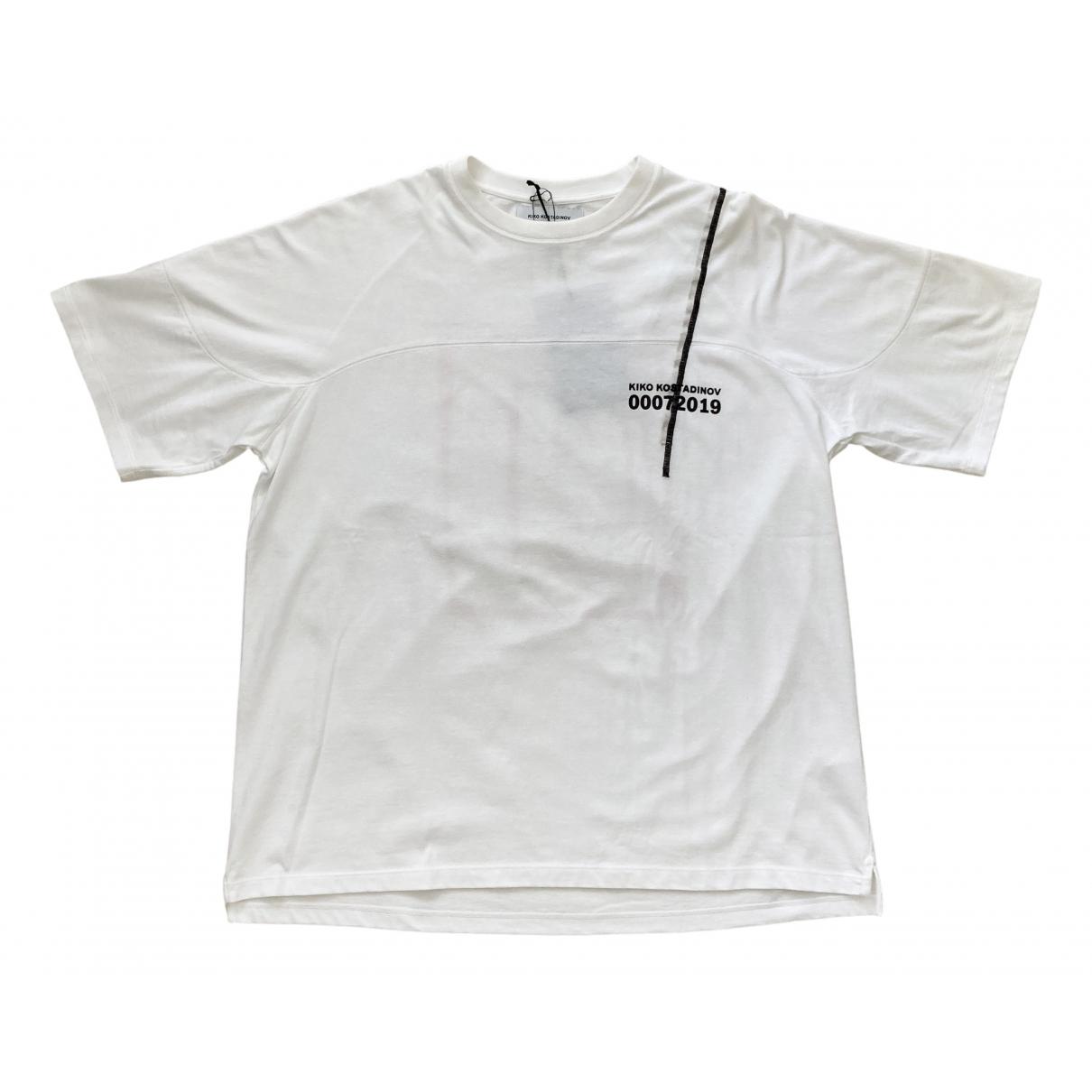 Kiko Kostadinov \N White Cotton T-shirts for Men M International