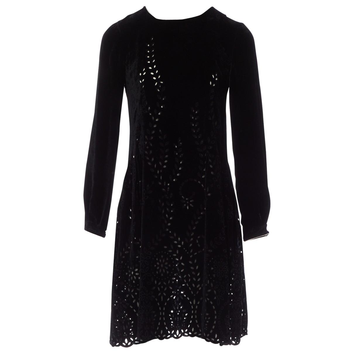 Alberta Ferretti - Robe   pour femme en velours - noir