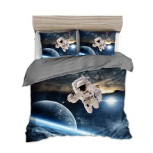 Bettwaesche Set mit Astronaut Muster ohne Fuellstoff