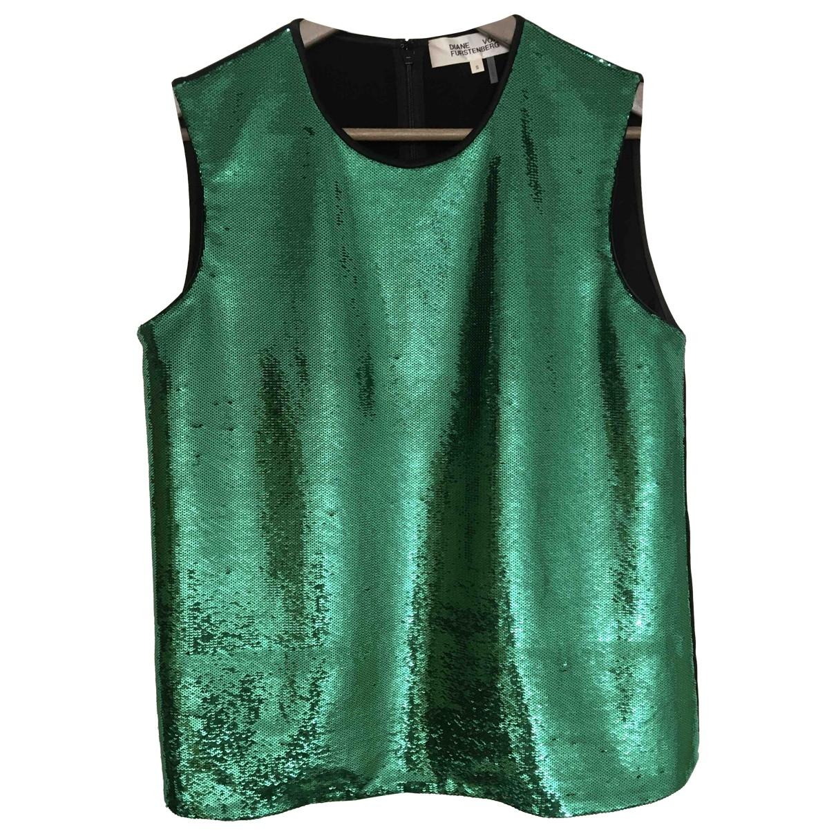 Diane Von Furstenberg - Top   pour femme en a paillettes - vert