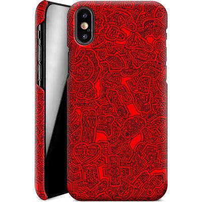 Apple iPhone X Smartphone Huelle - Red Black von Mattartiste