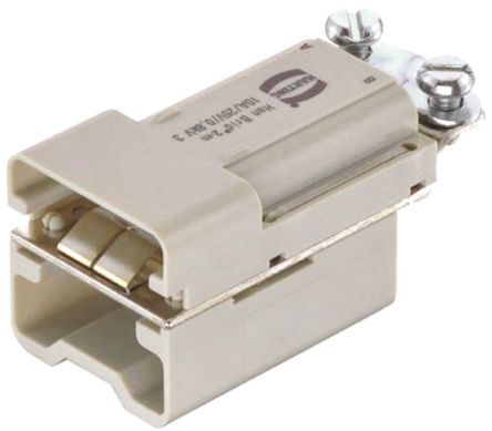 HARTING HAN Brid Series Connector Insert, Male, 6 Way, 10A, 50 V
