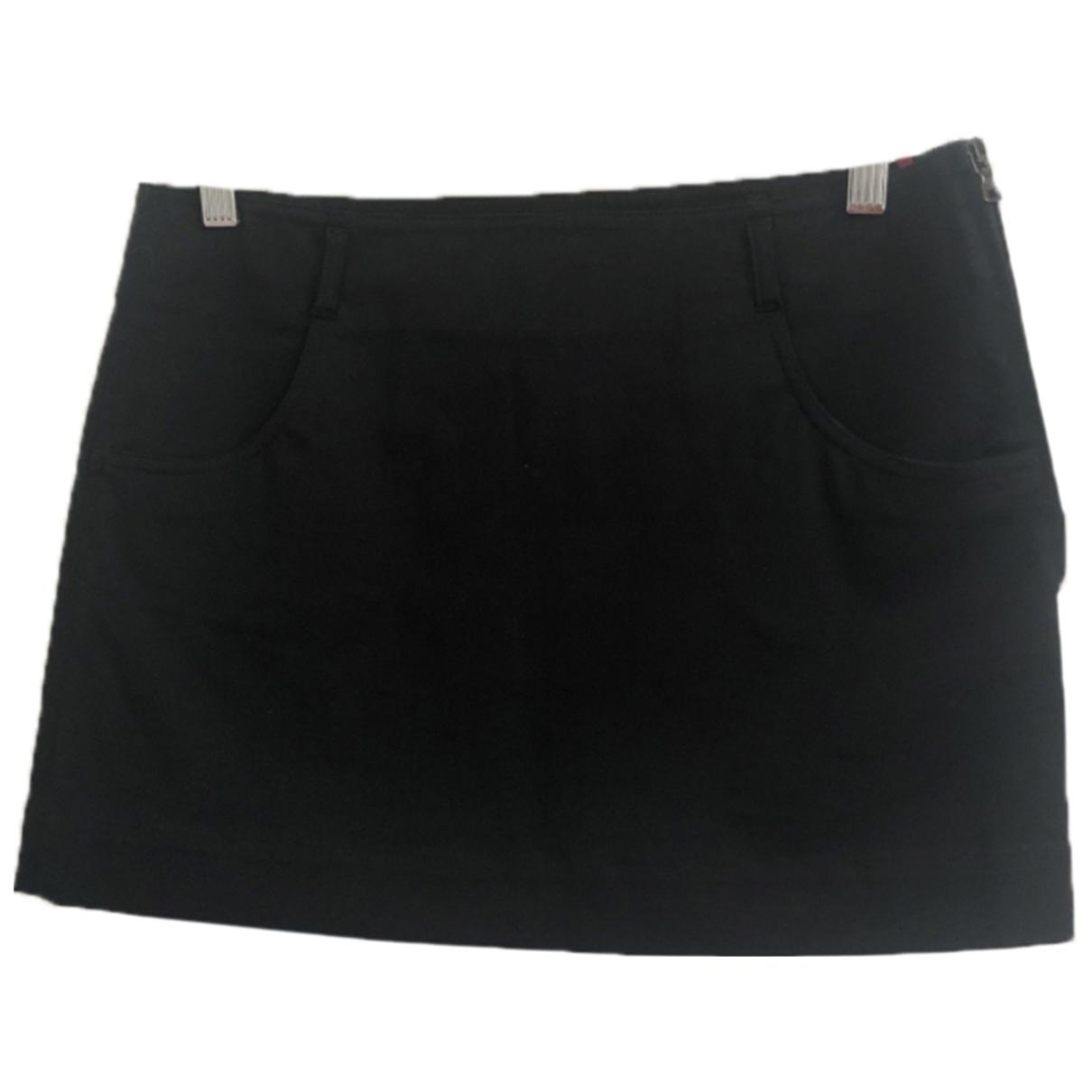 Prada \N Black Cotton skirt for Women 40 IT