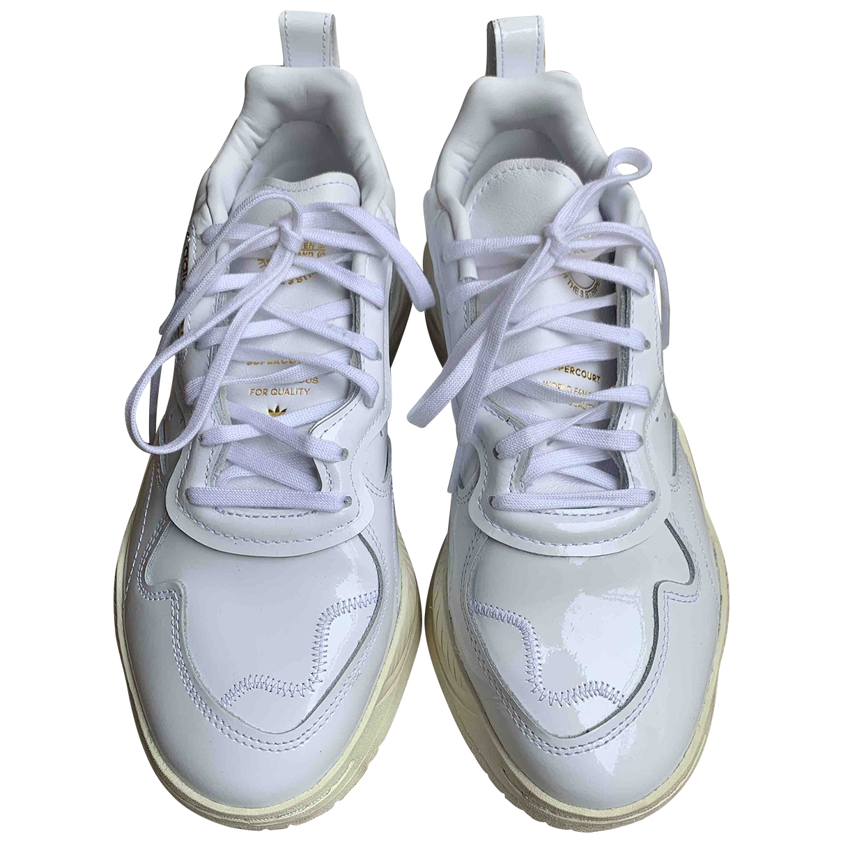 Adidas \N Sneakers in  Weiss Lackleder