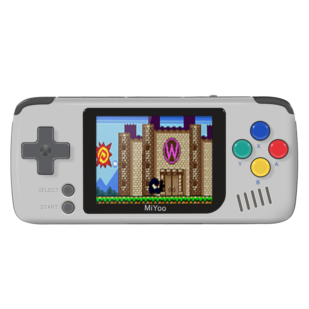 Powkiddy Q70 2.4'' IPS Screen Open Source 16GB Game Console 1000mAh TF Card Slot Music Play - Grey