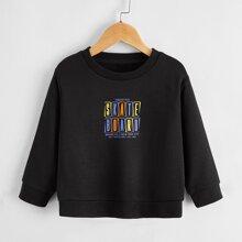 Toddler Girls Letter Graphic Sweatshirt