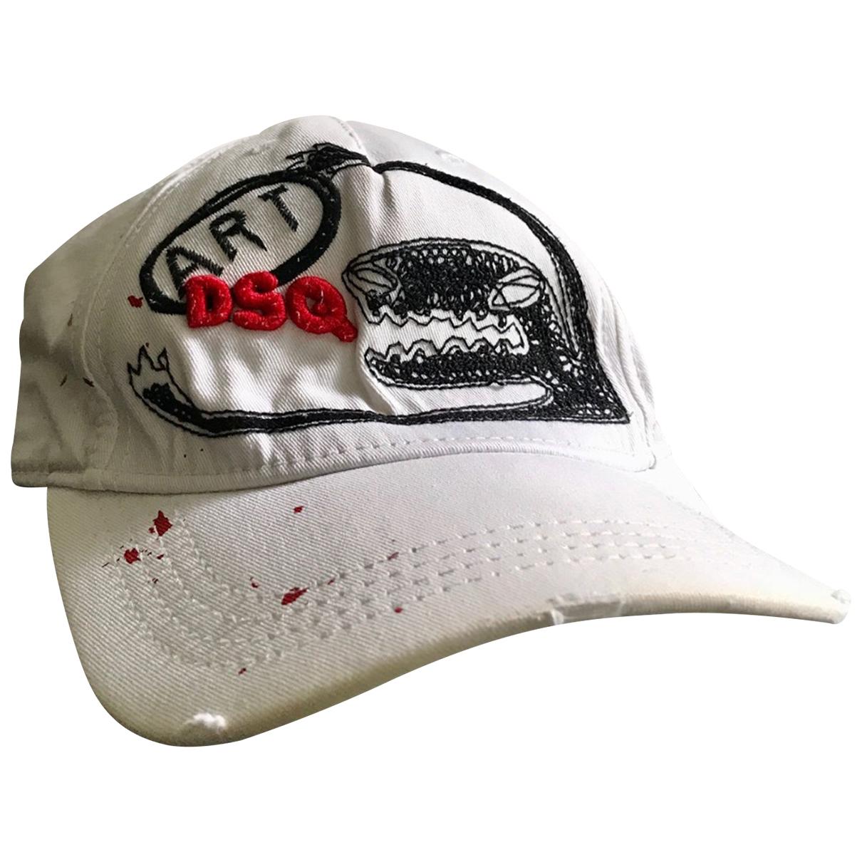 Dsquared2 - Chapeau & Bonnets   pour homme en coton - blanc