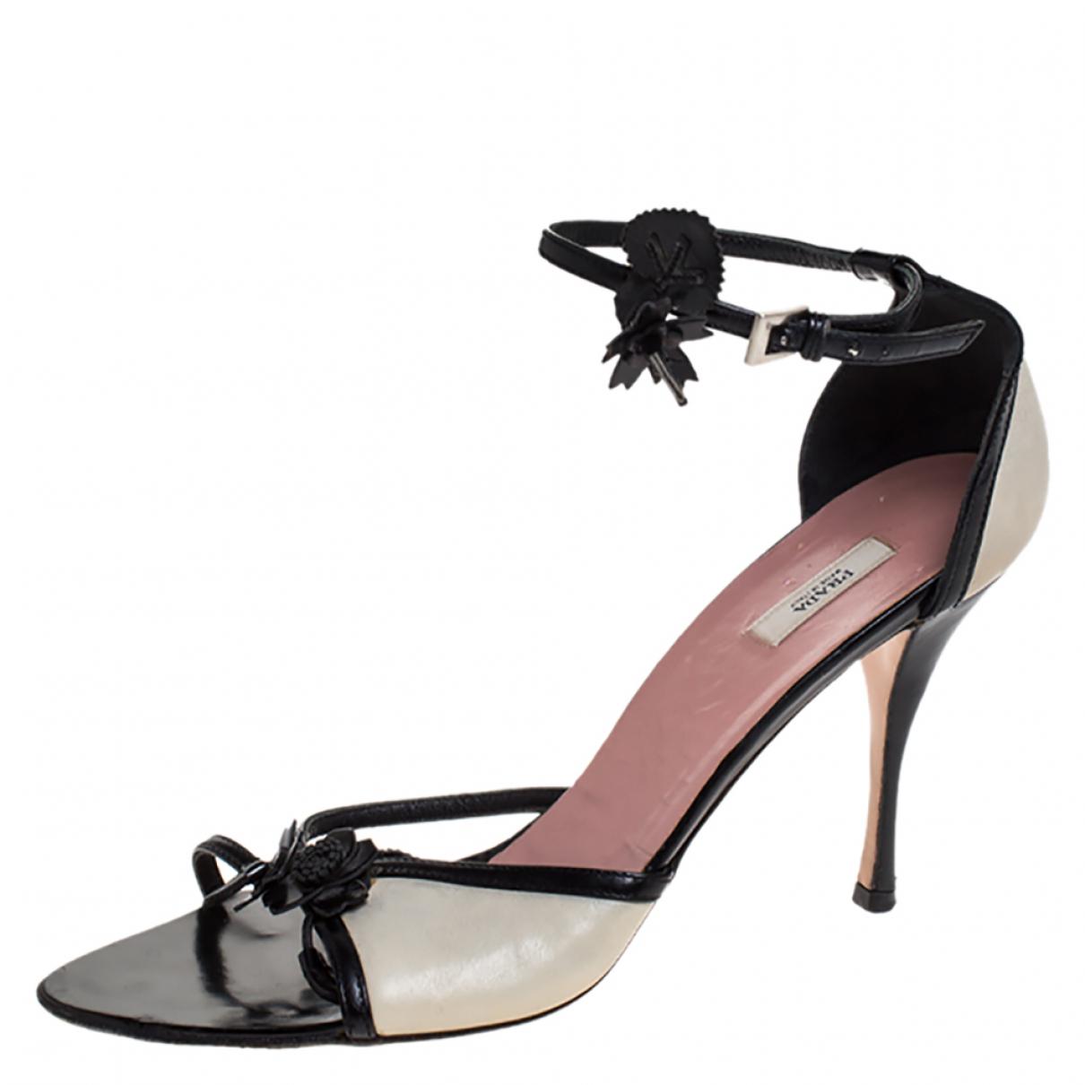 Prada \N Leather Sandals for Women 8.5 US