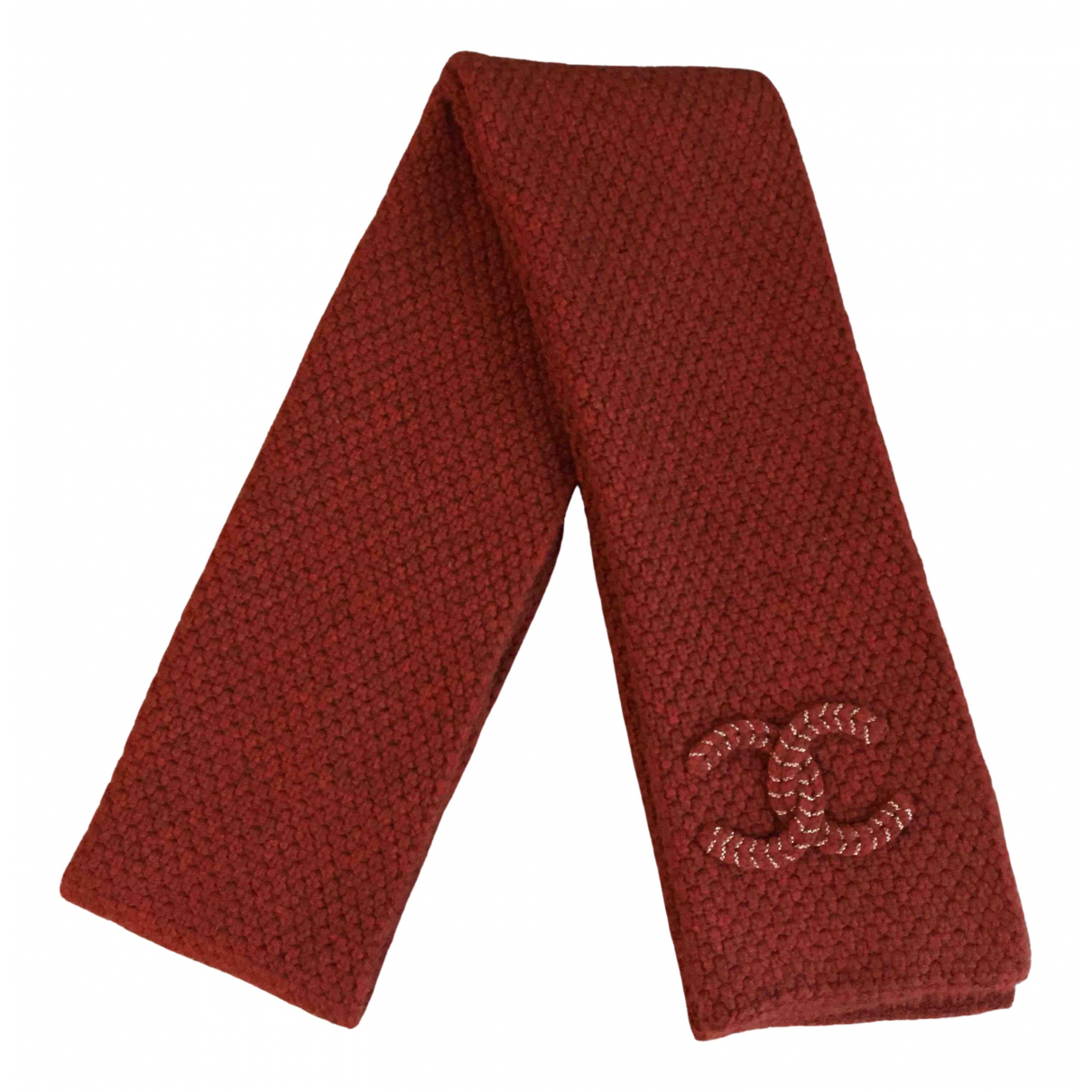 Chanel \N Schal in  Rot Kaschmir