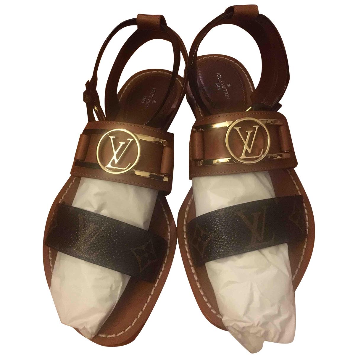 Louis Vuitton \N Brown Leather Sandals for Women 37 EU