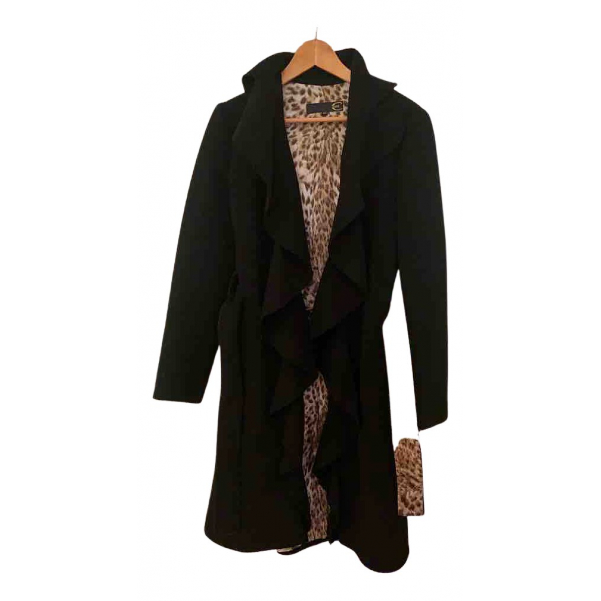 Just Cavalli N Black Wool jacket for Women 42 IT