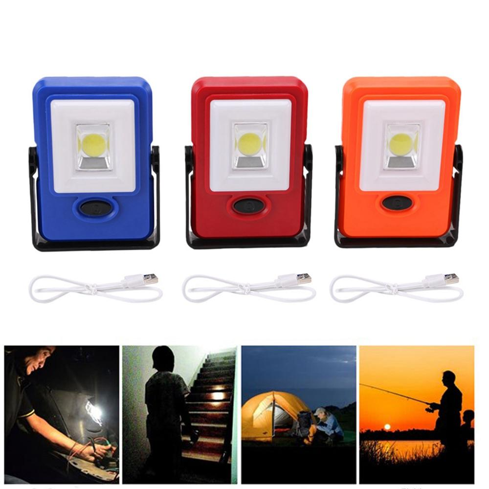 Portable COB Hook Magnetic Work Light USB Rechargeable Outdoor Lamp for Camping Fishing Hiking