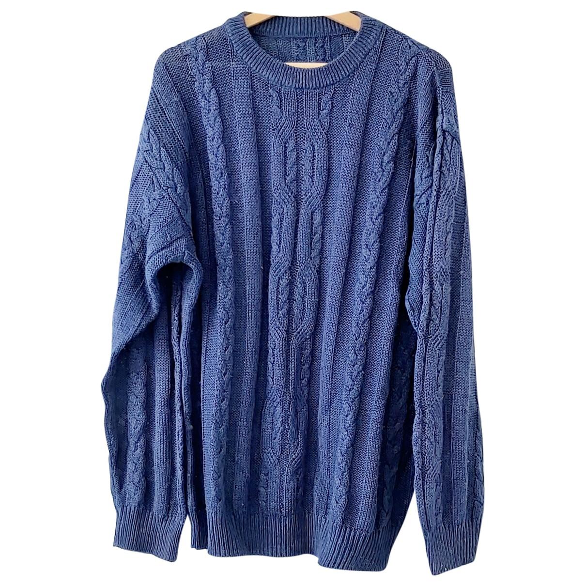 Non Signe / Unsigned Oversize Pullover.Westen.Sweatshirts  in  Blau Wolle