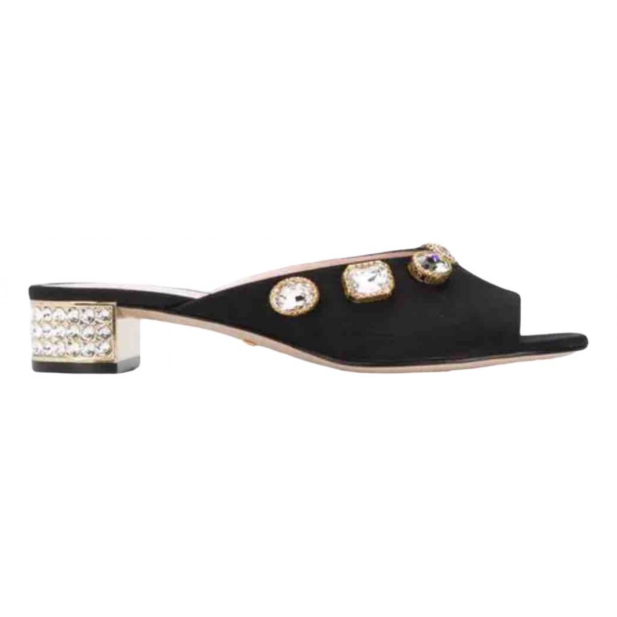 Gucci \N Black Cloth Sandals for Women 40 IT