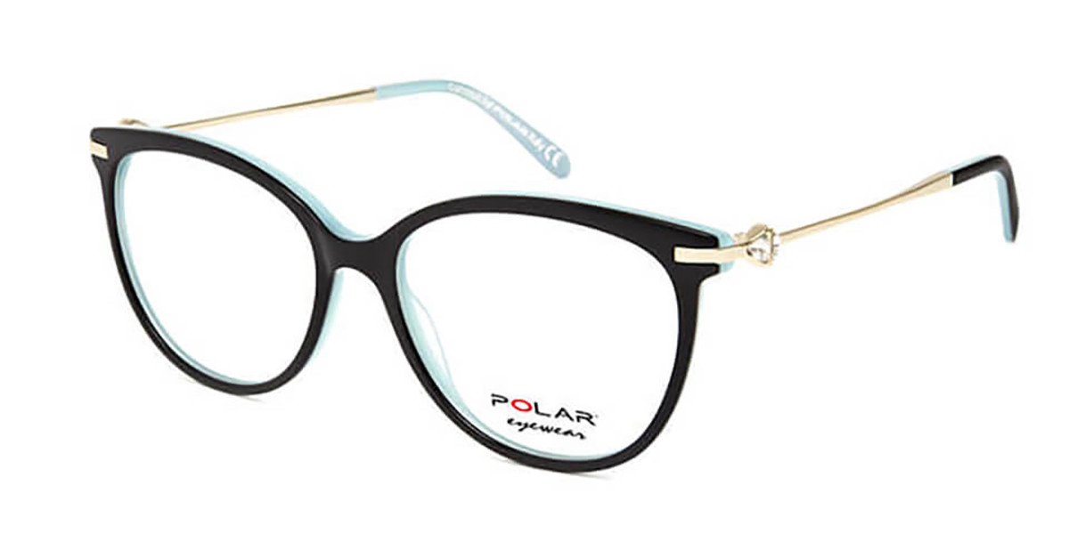 Polar PL Crystal 5 19 Men's Glasses Black Size 54 - Free Lenses - HSA/FSA Insurance - Blue Light Block Available