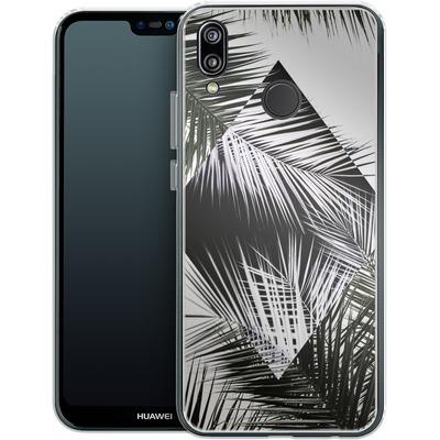 Huawei P20 Lite Silikon Handyhuelle - Palm Leaves 3 Geometry 2 von Mareike Bohmer