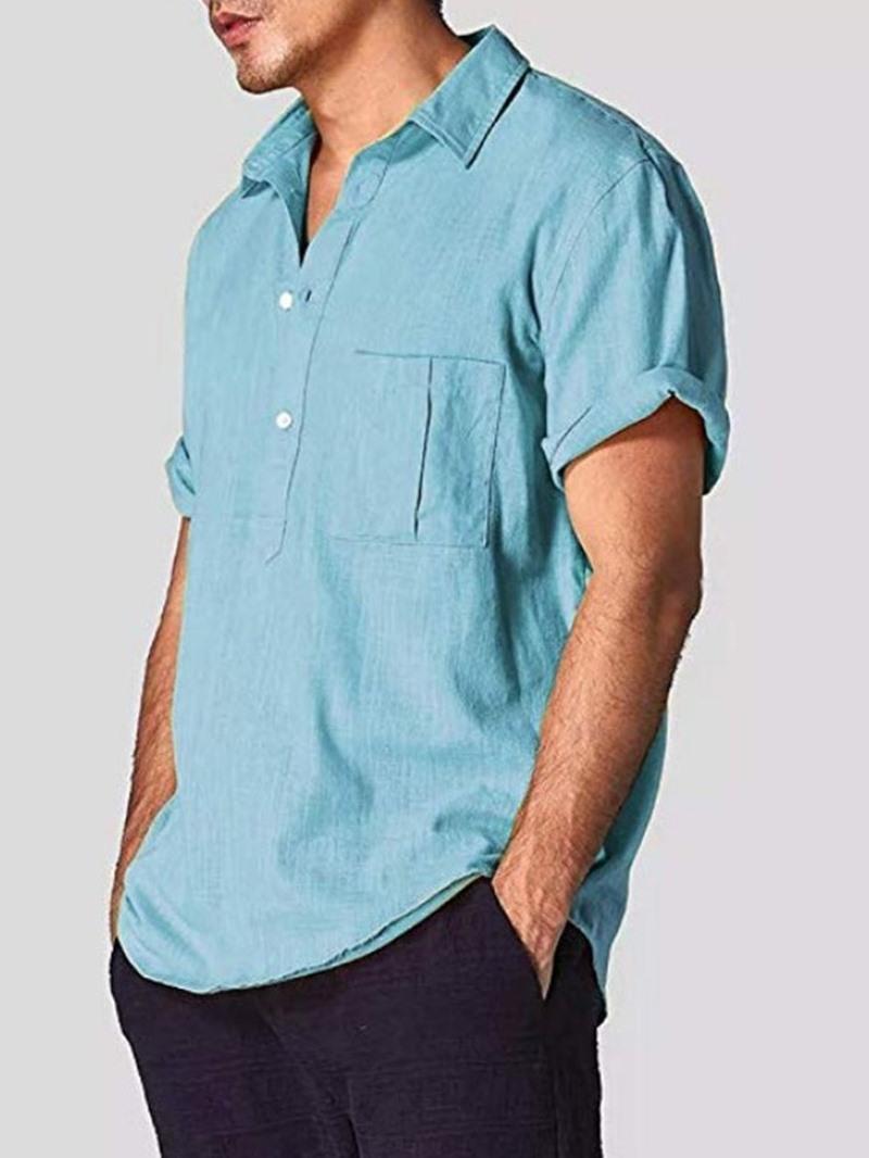 Ericdress Plain Casual Lapel Loose Shirt
