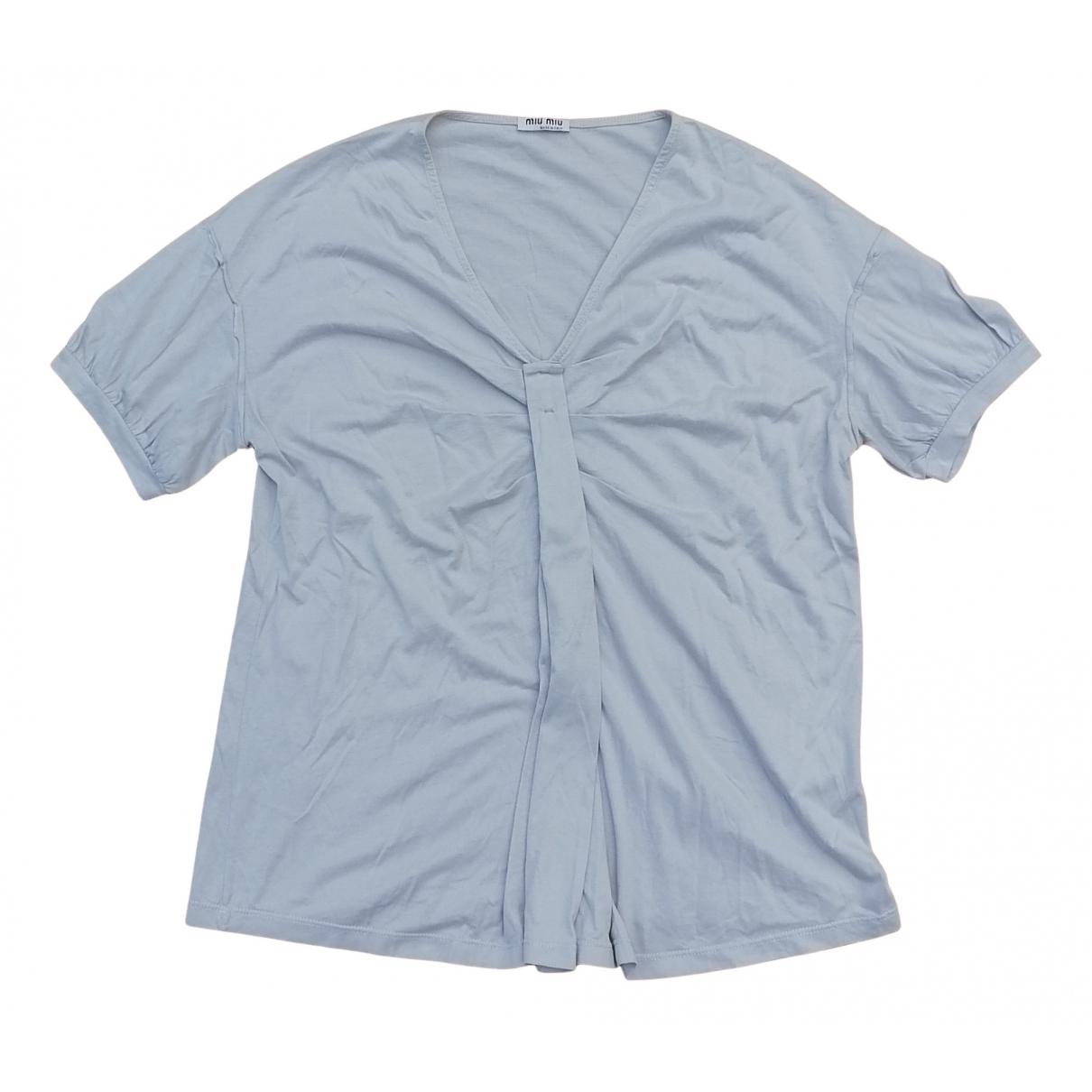 Miu Miu - Top   pour femme en coton - gris