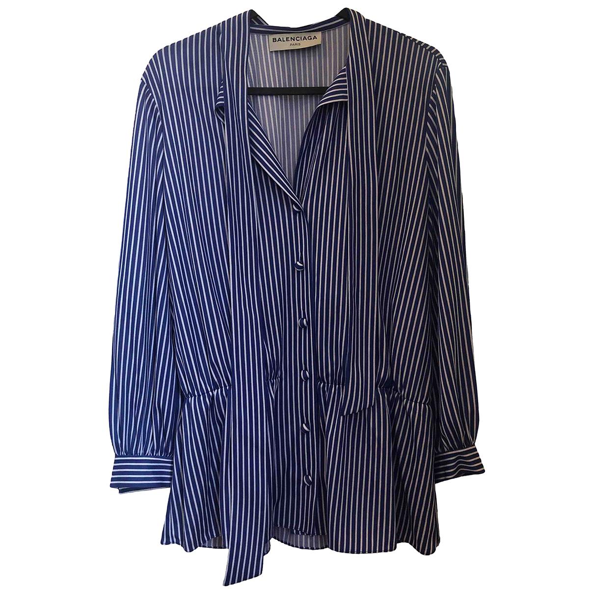 Balenciaga - Top   pour femme - bleu