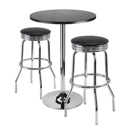 93362 Summit 3-Pc Bar Table Set  24inch Table and 2