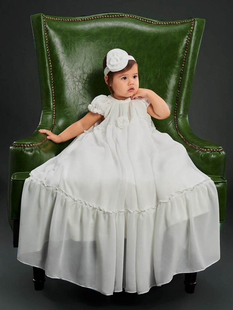 Ericdress Flowers Infant Girls Baptism Christening Gown