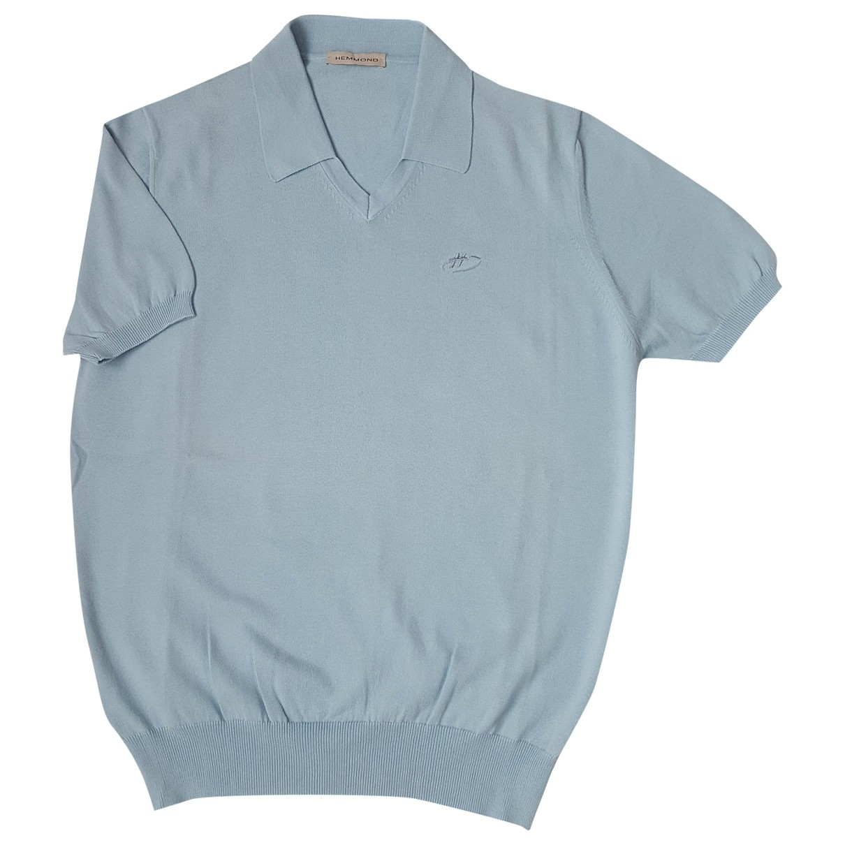 Non Signé / Unsigned \N Turquoise Cotton Polo shirts for Men 50 IT