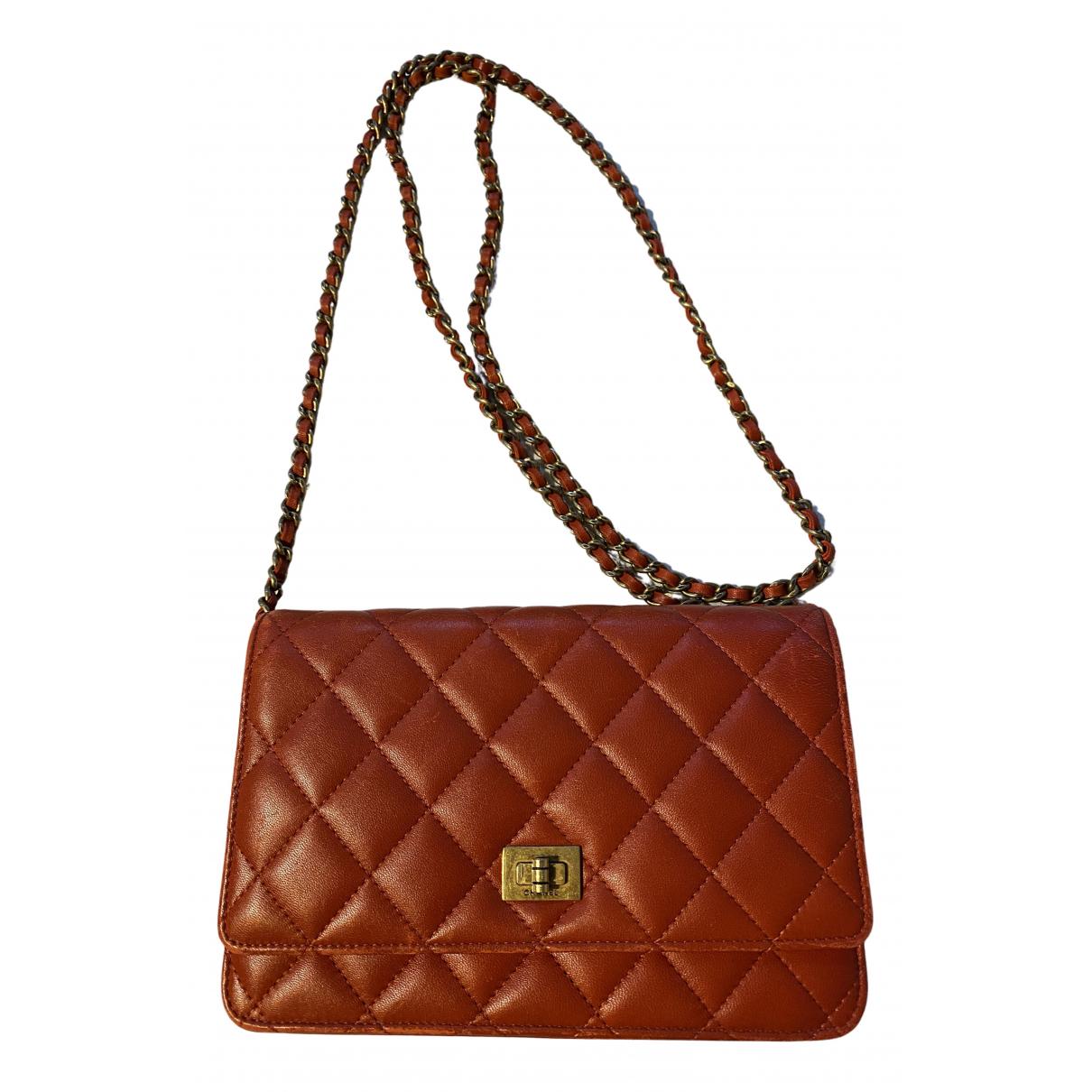 Chanel Wallet on Chain Handtasche in  Rot Leder