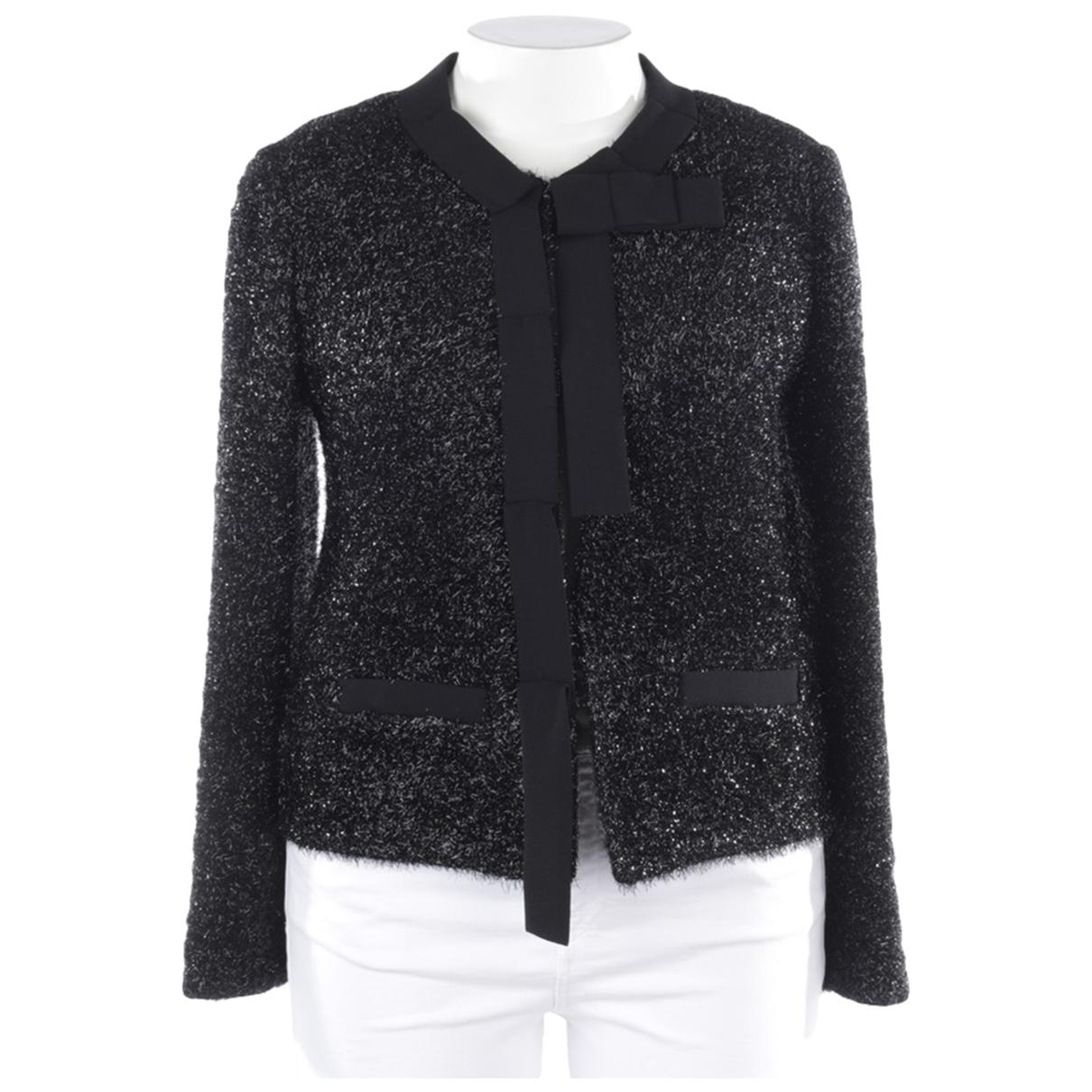 Shirtaporter \N Jacke in  Schwarz Polyester